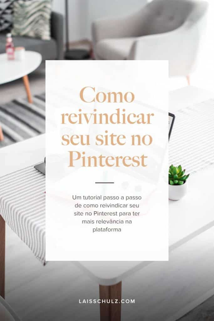 como reivindicar seu site no Pinterest